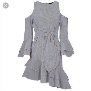 Intermix Blue/White Ellie Knee-length Dress.